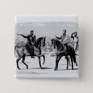Richard en de Meester van St. John Vierkante Button 5,1 Cm
