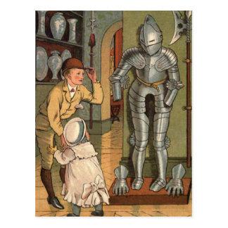 Ridder in de Vintage Illustratie van het Pantser Briefkaart