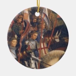 Ridders van Christus (het Altaarstuk van Gent), Rond Keramisch Ornament
