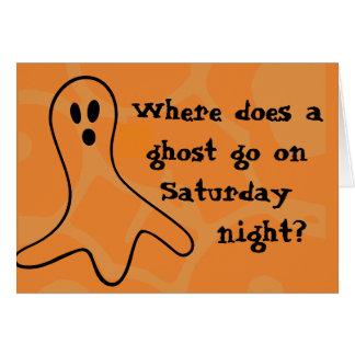 Riddle het Spook van Halloween Kaart