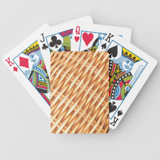 Rieten achtergrond poker kaarten