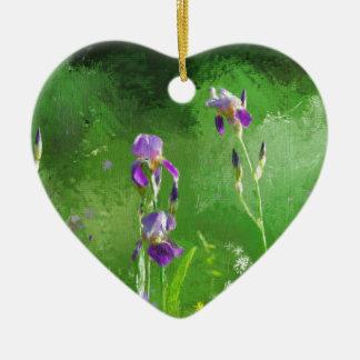 Rij van Irissen Keramisch Hart Ornament