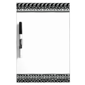 Rijen van de Zwart-witte Patronen van de Krabbel Dry Erase Whiteboards