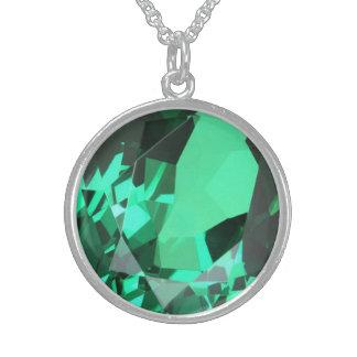 Rijke groene Smaragdgroene birthstone van Mei Sterling Zilveren Kettingen