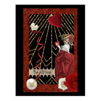 Rijke Rood Marie Antoinette Fashion Valentine Briefkaart