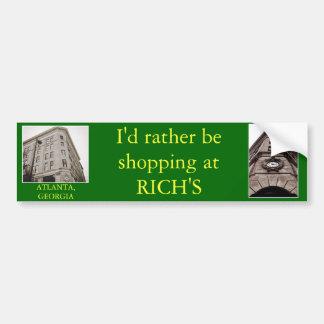 Rijken, de Sticker van de Bumper van Atlanta, Geor