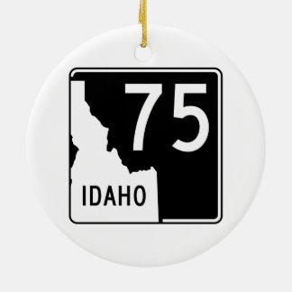 Rijksweg 75 van Idaho Rond Keramisch Ornament