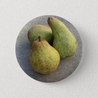 Rijpe peren ronde button 5,7 cm