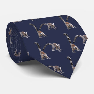 Ring-tailed lemur custom stropdassen