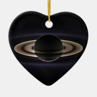 Ringen van Saturnus Keramisch Hart Ornament