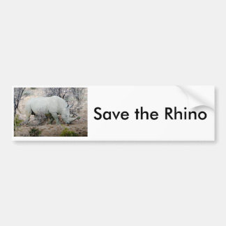 Rinoceros van Zuid-Afrika Bumpersticker