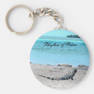 Ritme van de Leguaan van Belize door het zee Sleutelhanger