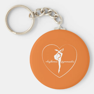 Ritmische gymnastiek- liefde keychain sleutelhanger