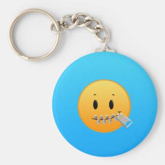 Ritssluiting Emoji Sleutelhanger