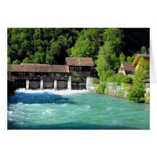 Rivier bij het westen van Interlaken in Briefkaarten 0