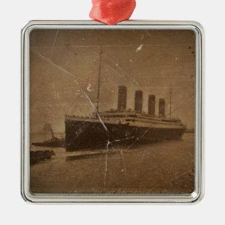 RMS Kolossale Southampton Zilverkleurig Vierkant Ornament