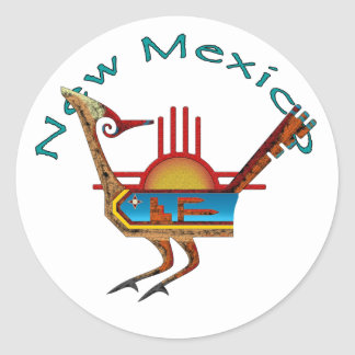 Roadrunner - New Mexico Ronde Sticker