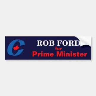 Rob Ford voor Eerste minister Bumpersticker