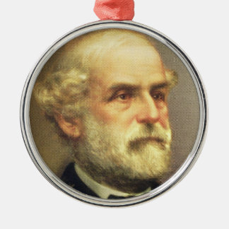 Robert E. Lee Zilverkleurig Rond Ornament