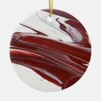 Robijnrode Pijlers Rond Keramisch Ornament
