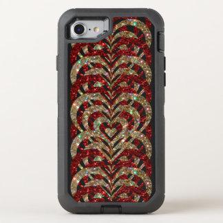 Robijnrode Rood & het Goud schittert de OtterBox Defender iPhone 8/7 Hoesje