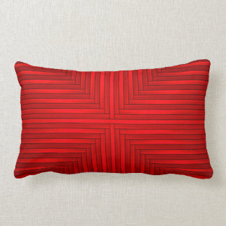 Robijnrood Rood Elegant Modern Modieus Poly Lumbar Kussen