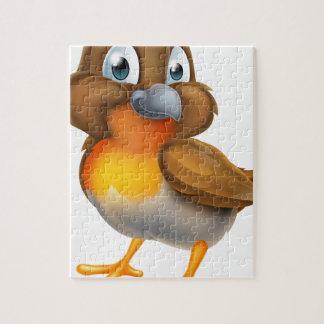 Robin Bird Cartoon Character Legpuzzel