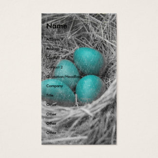 Robin Eggs Grunge Visitekaartjes