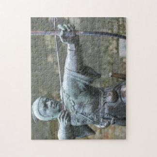 Robin Hood Statue Nottingham Legpuzzel