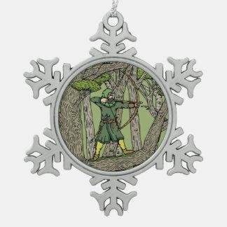 Robin Hood Tin Sneeuwvlok Ornament