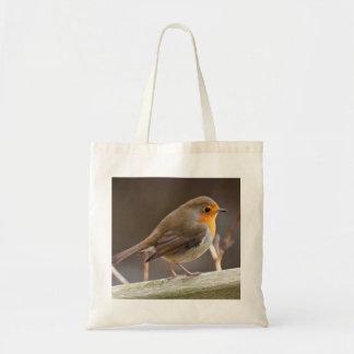 Robin op een zak van het Bolsa Draagtas