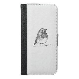Robin Wallet Phone Case, Britse Vogel iPhone 6/6s Plus Portemonnee Hoesje