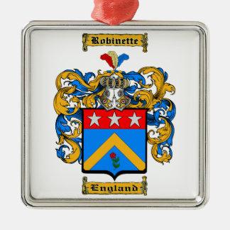Robinette Zilverkleurig Vierkant Ornament