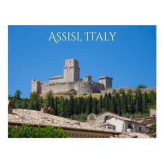 Rocca Maggiore, het Fort van Assisi, de Heuveltop Briefkaart