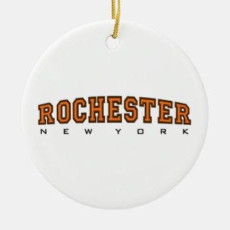 Rochester, New York - Ltrs Rond Keramisch Ornament