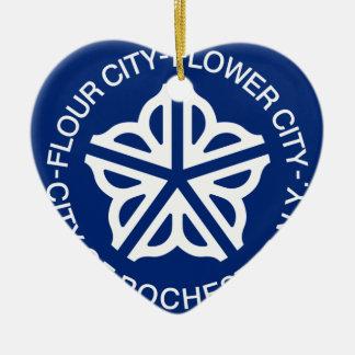 Rochester, New York, Verenigde Staten Keramisch Hart Ornament