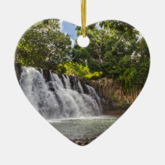 Rochester valt waterval in Souillac Mauritius Keramisch Hart Ornament