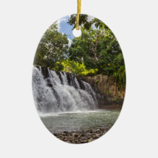 Rochester valt waterval in Souillac Mauritius Keramisch Ovaal Ornament
