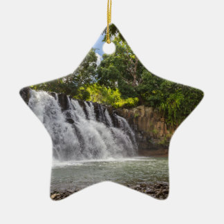 Rochester valt waterval in Souillac Mauritius Keramisch Ster Ornament