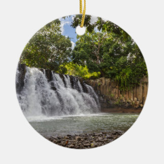 Rochester valt waterval in Souillac Mauritius Rond Keramisch Ornament