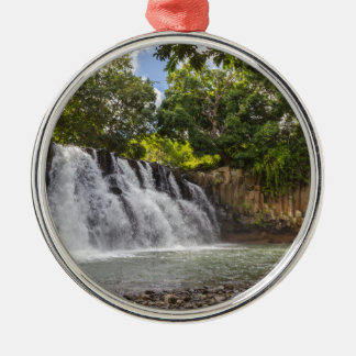 Rochester valt waterval in Souillac Mauritius Zilverkleurig Rond Ornament