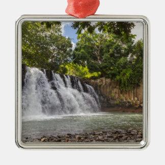 Rochester valt waterval in Souillac Mauritius Zilverkleurig Vierkant Ornament