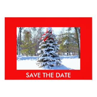 Rode Altijdgroene Boog, SAVE de DATUM 12,7x17,8 Uitnodiging Kaart