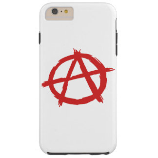 Rode Anarchist een Logo van de Anarchie van het Tough iPhone 6 Plus Hoesje