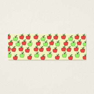 Rode Appelen en Groene Appelen, Patroon, op Room Mini Visitekaartjes