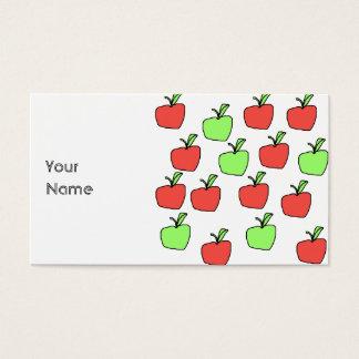 Rode Appelen en het Groene Patroon van Appelen Visitekaartjes