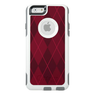 Rode Argyle OtterBox iPhone 6/6s Hoesje