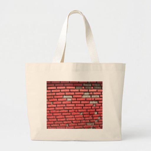 Rode Bakstenen muur - het winkelen zak Canvas Tas