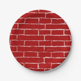 Rode Bakstenen muur Papieren Bordjes