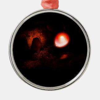 Rode Ballon en Culvert2 Zilverkleurig Rond Ornament